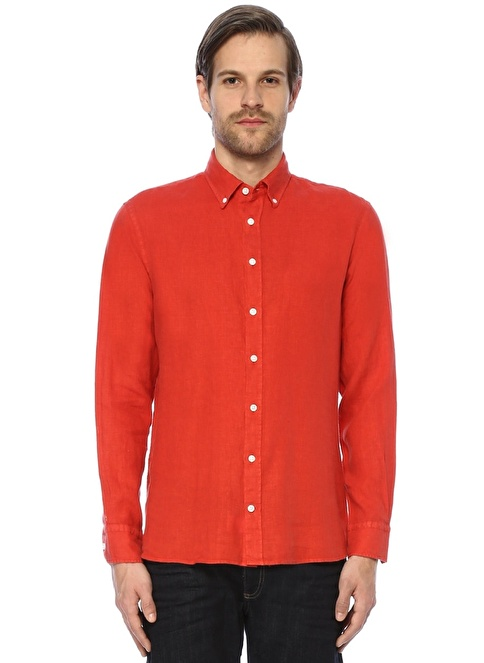 Beymen Collection Uzun Kollu Gömlek Kırmızı